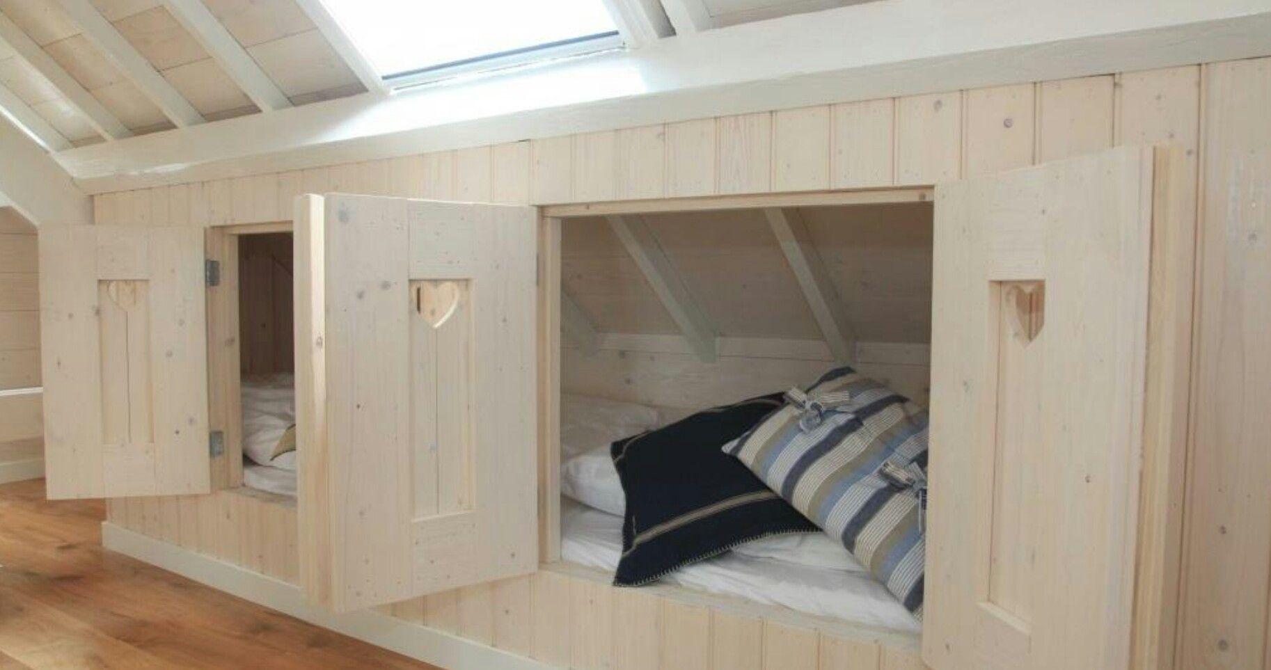 Slaapkamer Schuin Dak : Bedstee voor onder een schuin dak kivat ideat kotiin