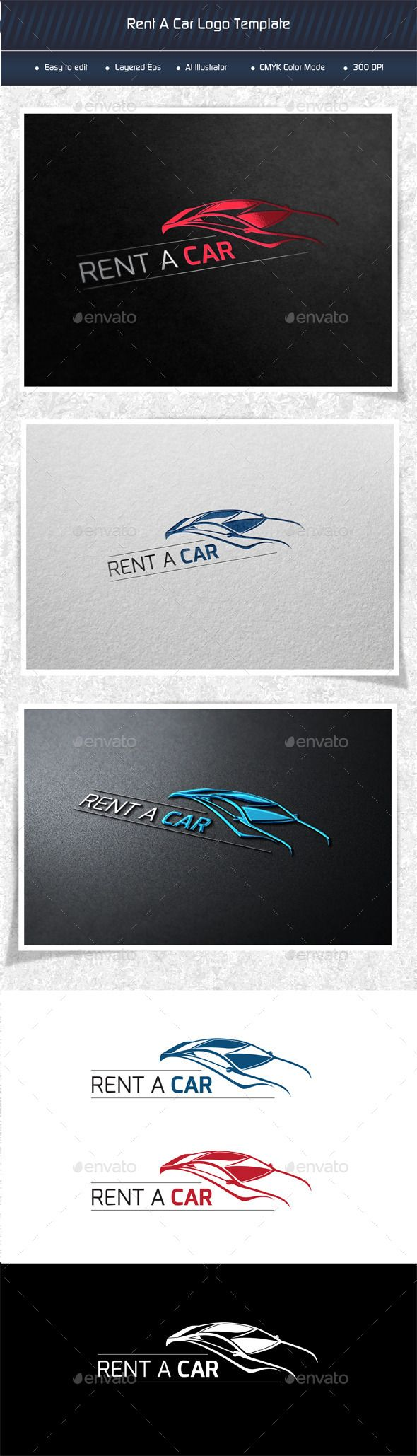 Rental Car - Logo Design Template Vector #logotype Download it here ...
