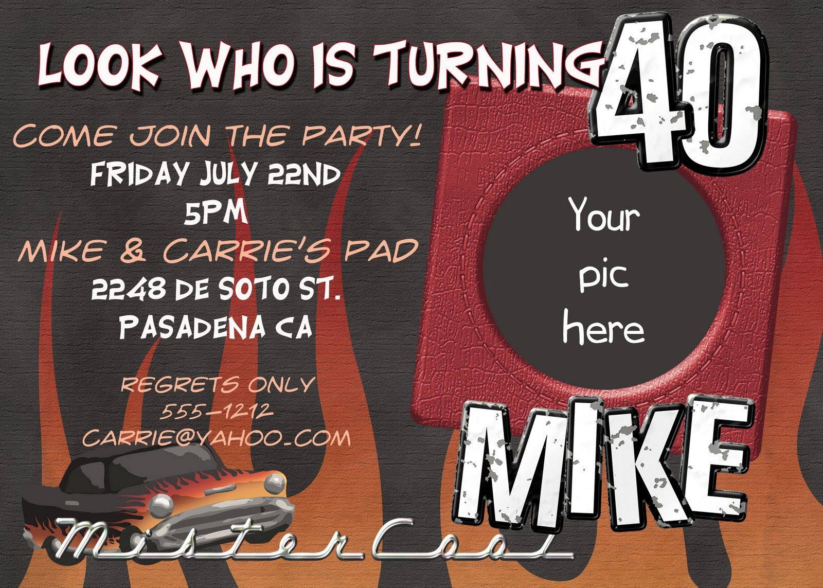 50th Birthday Invitations for Him | 40th Birthday Invitation ...