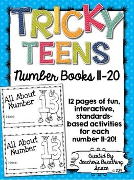 Tricky Teens 11 20 Interactive Number Books For The Nu