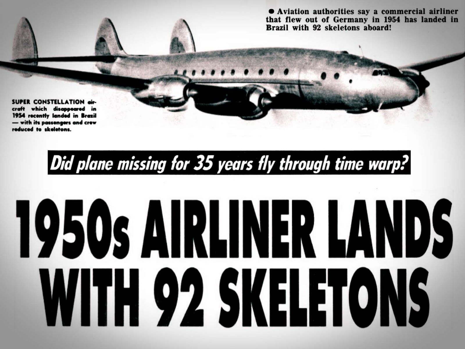 Santiago Flight 513 Took Off From Germany On September 4th 1954 And Vanished Somewhere Over The Atlantic Ocean Creepy Facts Unique Facts Weird World