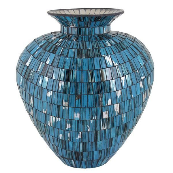 Overstock Essential Blue Mosaic Vase Counseling Office Decorating