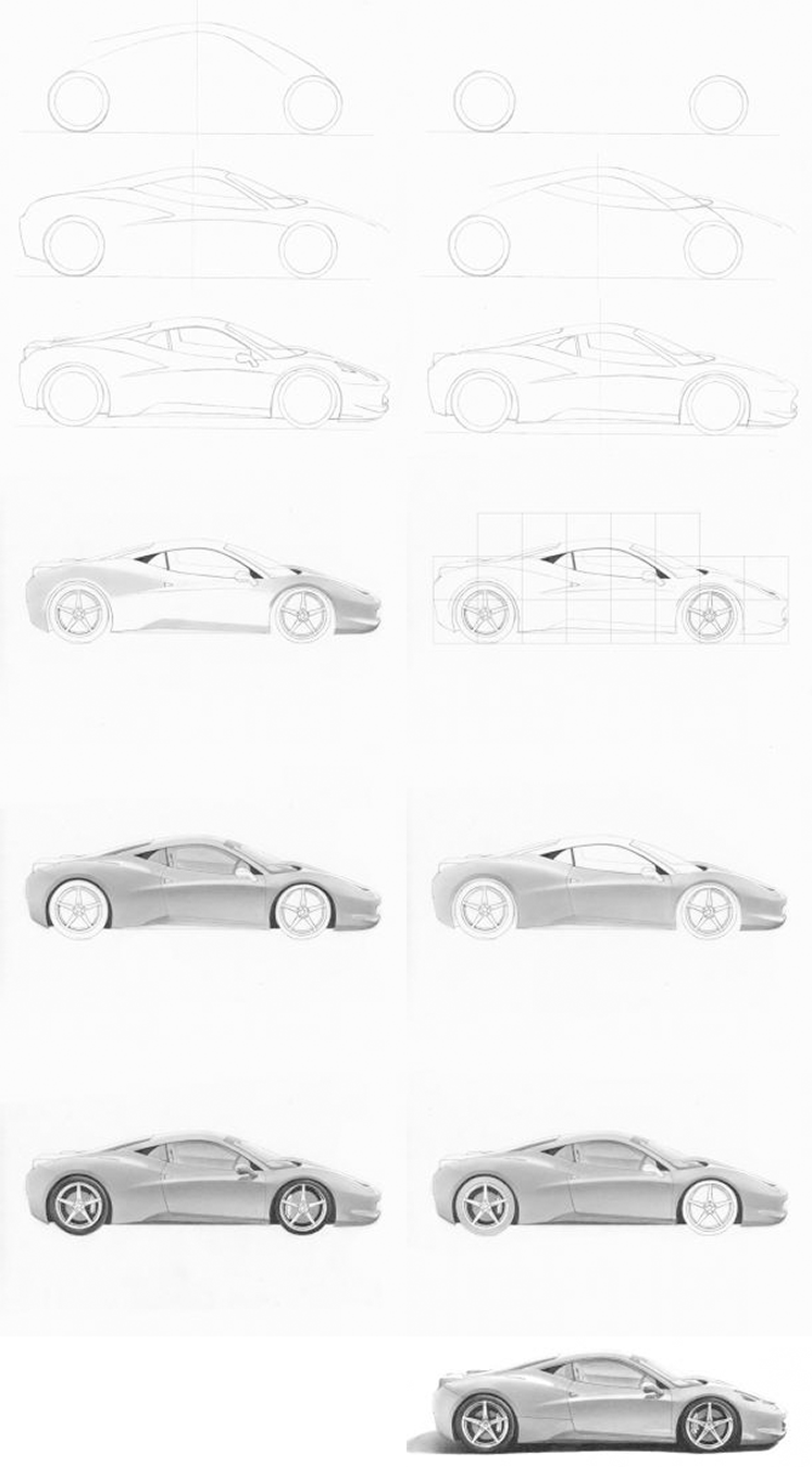 Sketch A Car Non Living Thing Drawing