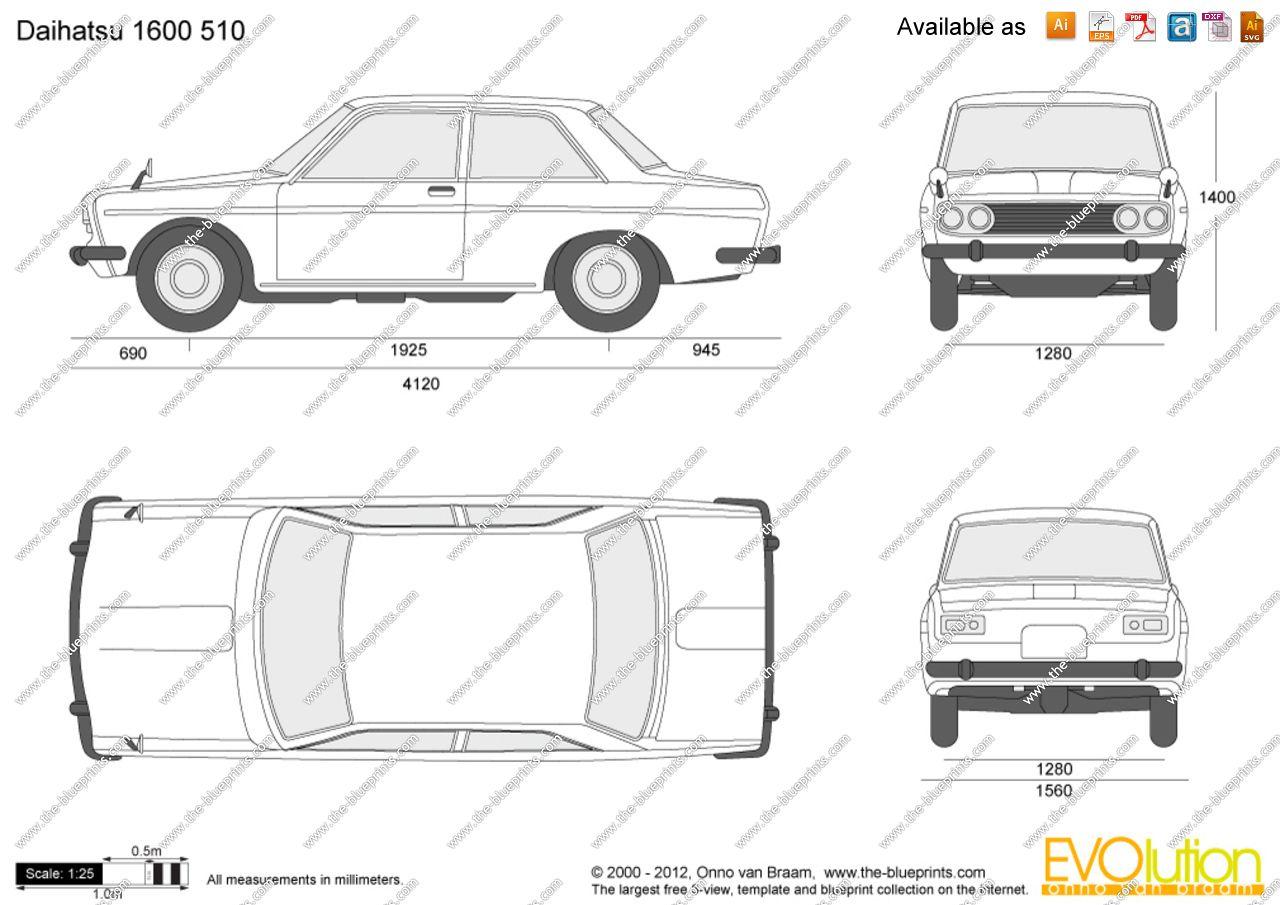 Image Result For Datsun 510 Blueprint Datsun 510 Como Dibujar A Sonic Planos [ 905 x 1280 Pixel ]