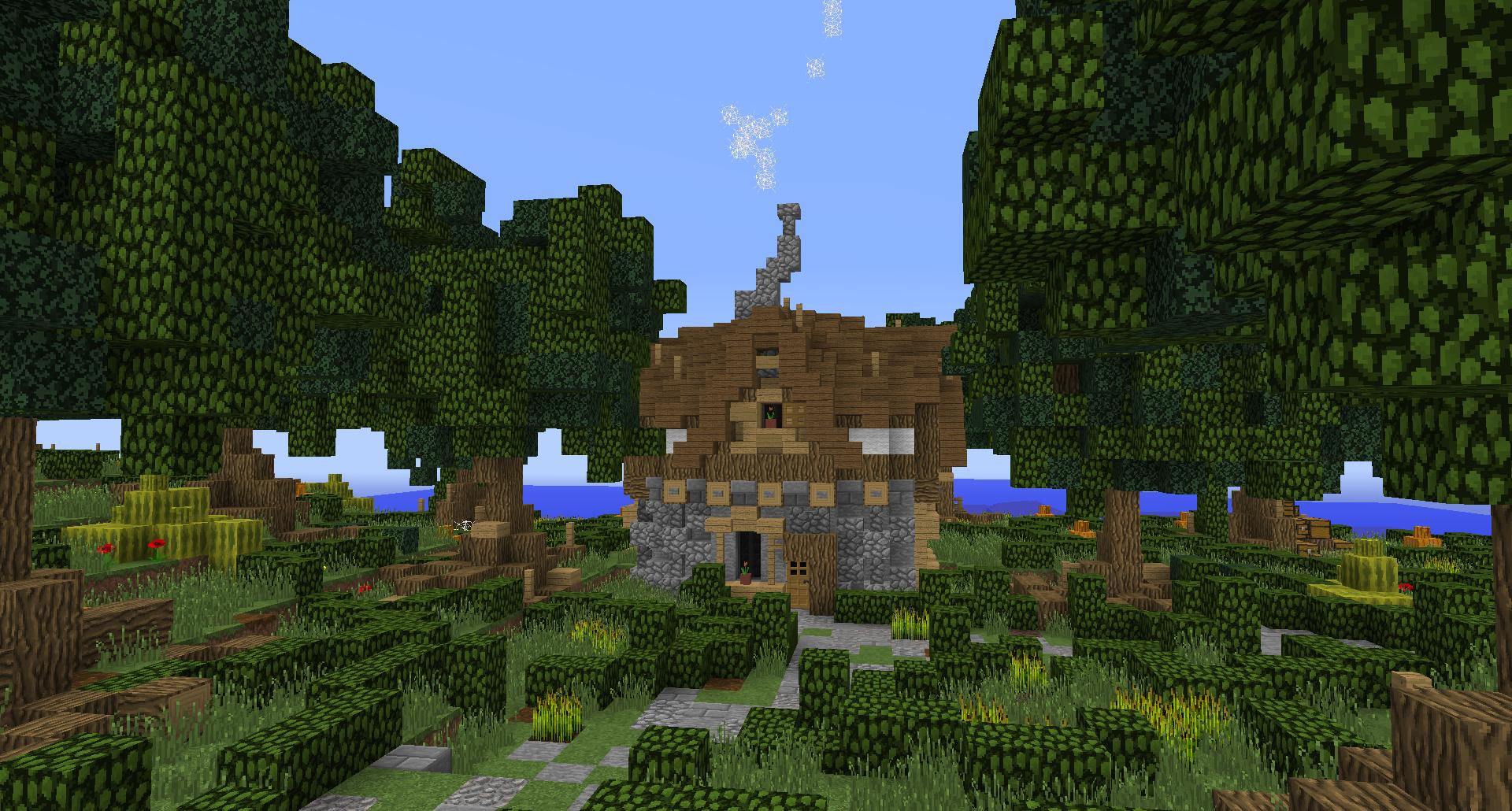 Minecraft buildings simple fantasy lollyherz village - Minecraft inneneinrichtung ...