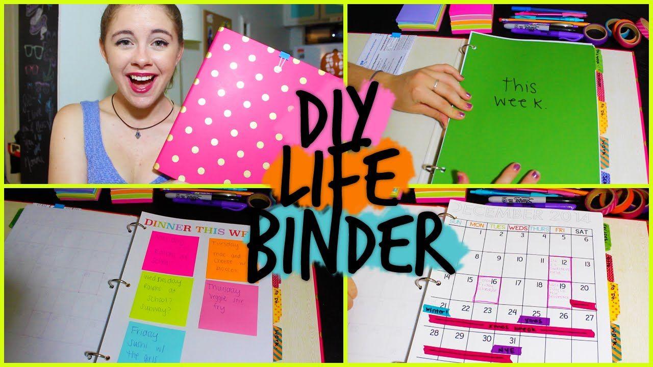 DIY: Life Binder! Organize your Calendar, Work, School +MORE