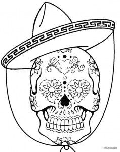 Coloring Pages : Free Printable Sugar Skull Coloring Pages ...