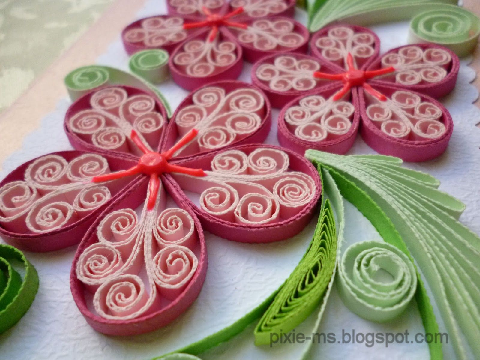 Quilling Ideas Papirvilag Quilled Flower Cards Quilling