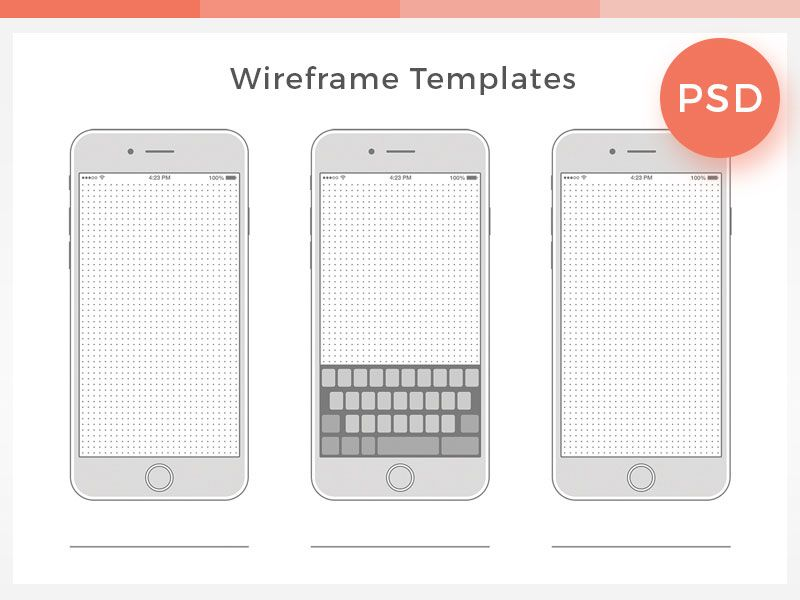 Free-Wireframe-Templates-Collection | Dribbble Graphics | Pinterest