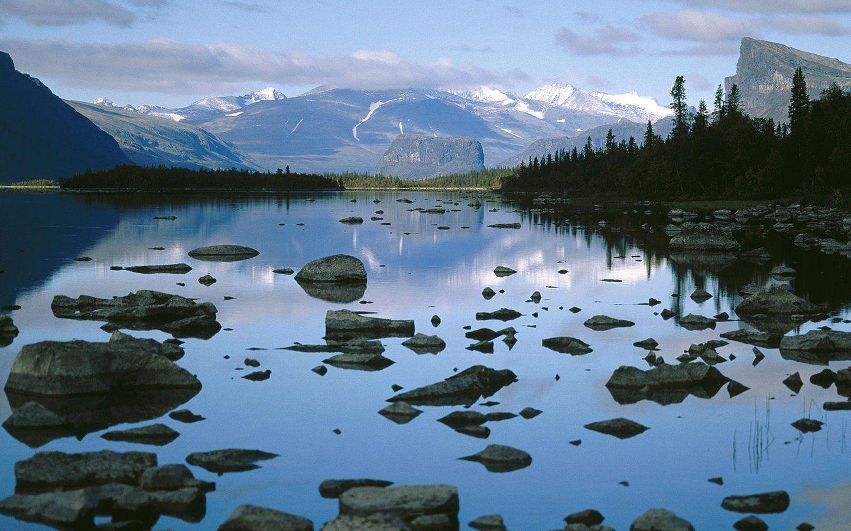 Laitaure Lake Sarek National Park Sweden
