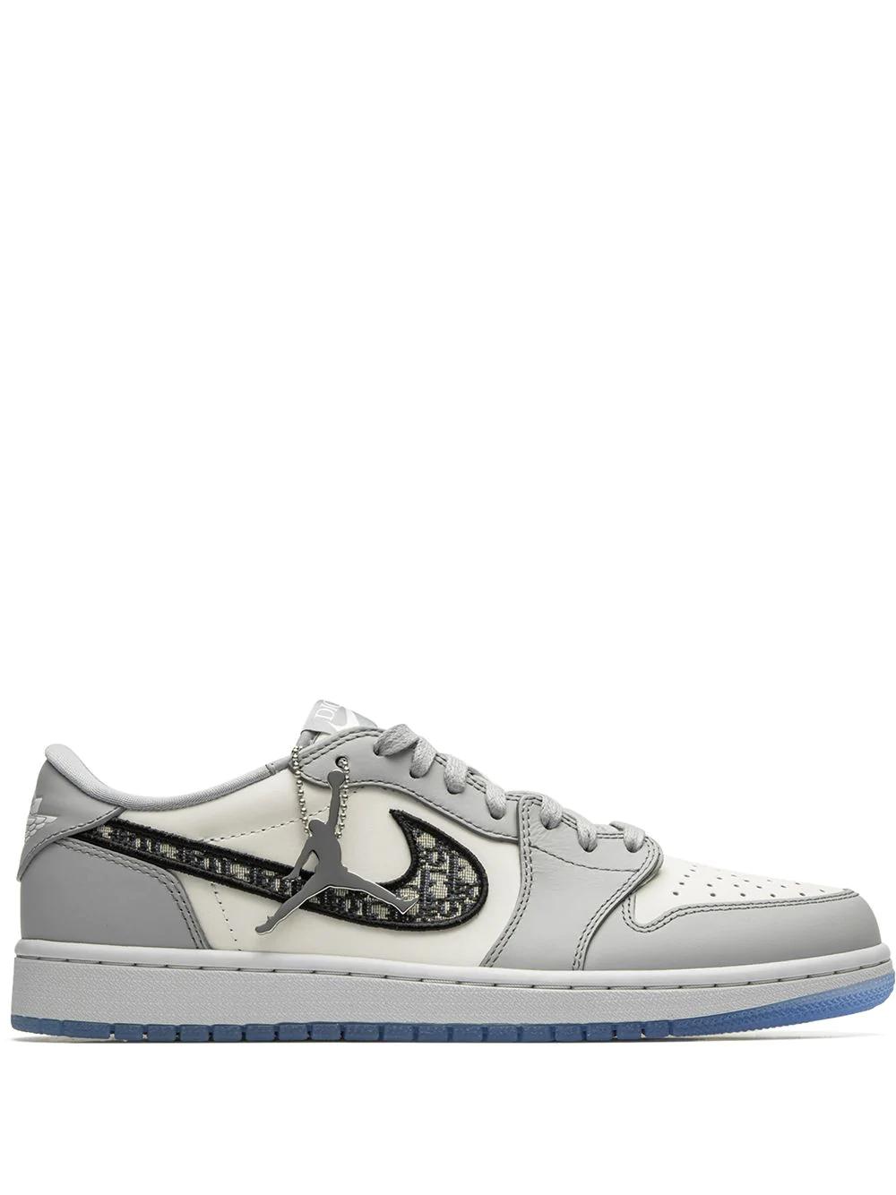 Jordan X Dior Air Jordan 1 Low Sneakers Farfetch In 2021 Jordan 1 Low Air Jordans Jordans