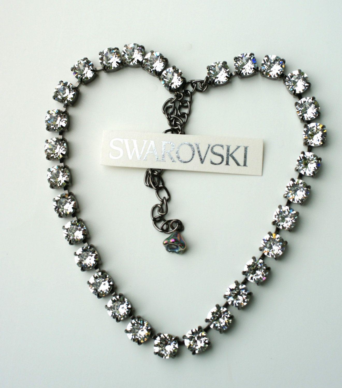 Sabika look necklace - Swarovski Crystal Necklace Sabika Inspired Radiant Crystal Clear Great Gatsby Look Free Drop Or Stud Earrings