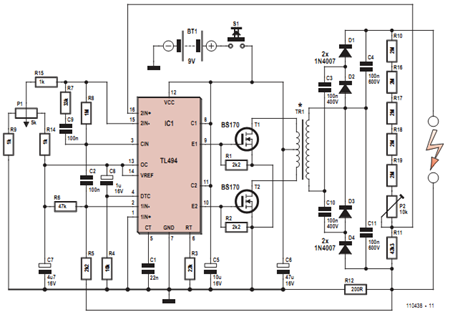 high voltage # generator circuit diagram # eee, Wiring circuit
