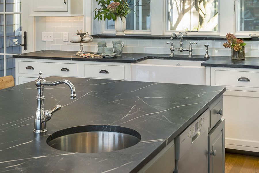 vermont soapstone counters compliment the white and gray cabinets rh pinterest com