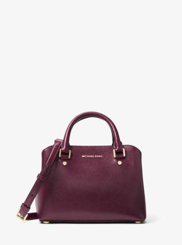 251a0e81954b9c Savannah Small Patent Saffiano Leather Satchel | Michael Kors | Style