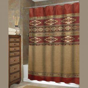 Bronze Mosaic Stone Fabric Shower Curtain Inside Size 2000 X Southwest Hooks