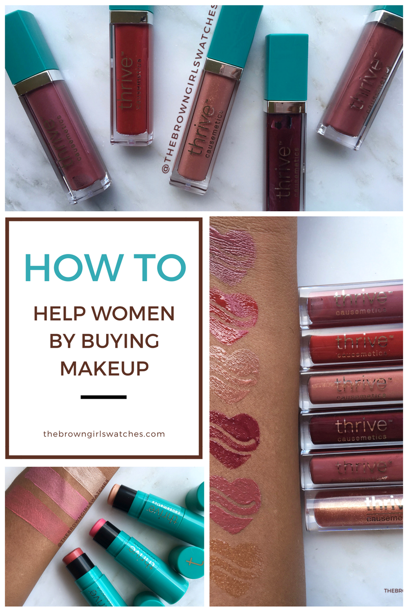 How to help Women by Buying Makeup! All about Thrive