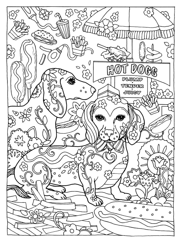 Marjorie Sarnat - Dazzling Dogs   Dog coloring book
