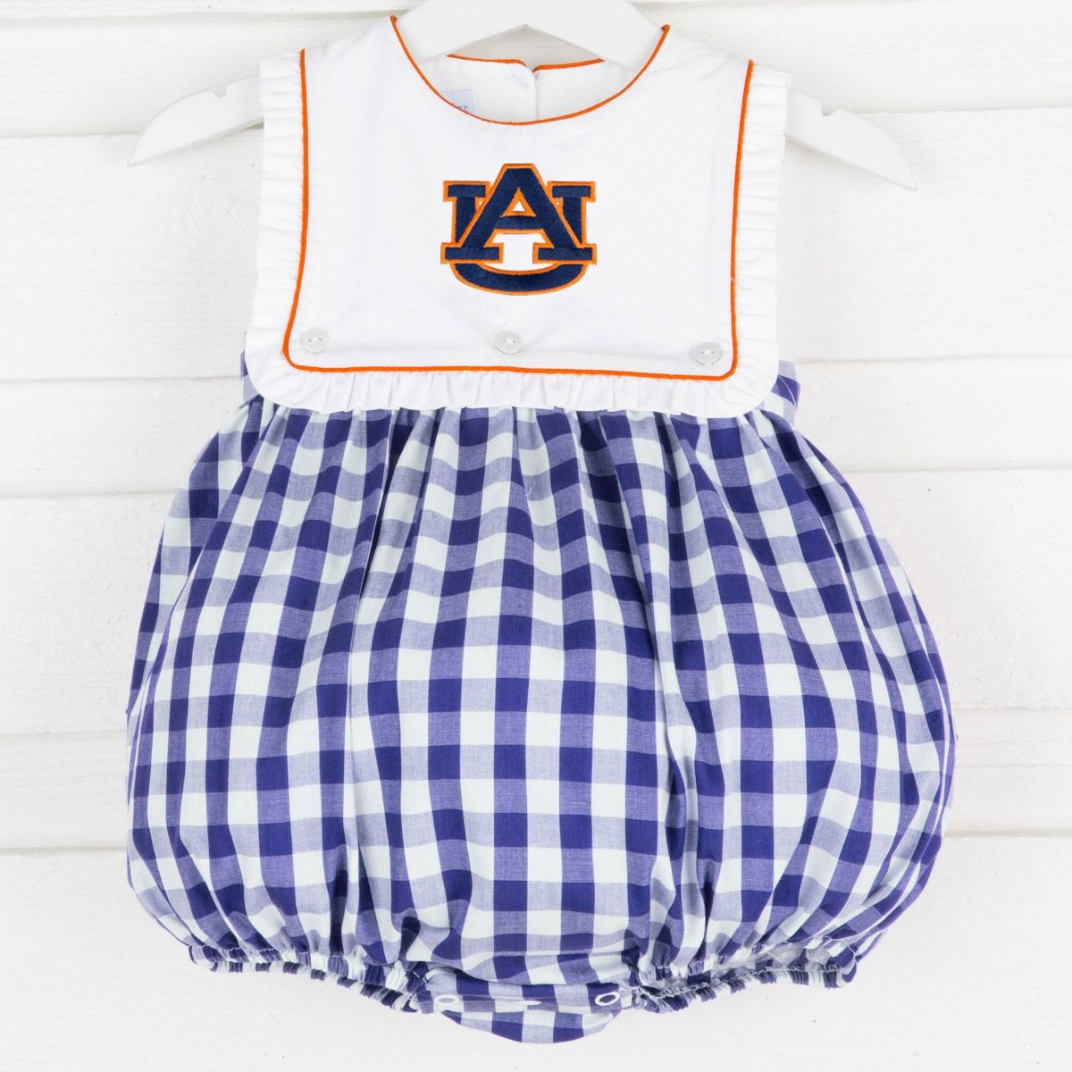 fae8f23a7 Go Tigers! Cheer on Auburn with this adorable embroidered bubble. Your  little one will