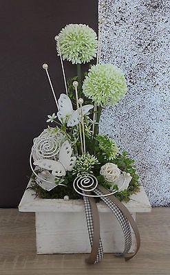 Tischdekoration, Tischgesteck, Gesteck, Sommer, Weiß In Möbel U0026 Wohnen,  Dekoration, Sonstige | EBay