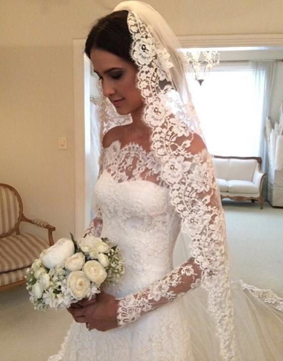 Favoriet Trouwjurk van kant op maat met lange mouwen bruidsjurk bruid: http  UH46