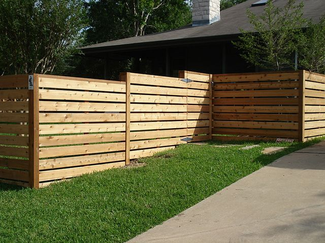 Custom Horizontal Residential Fence Alternative Closer