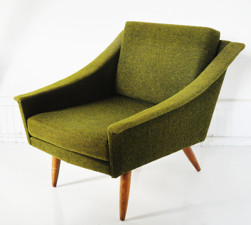 Olive Green Lounge Chair Design Adrian Pearsall For