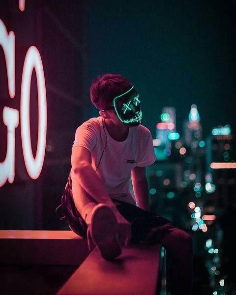 Night Huntsman Mask Photography In 2019 Urban