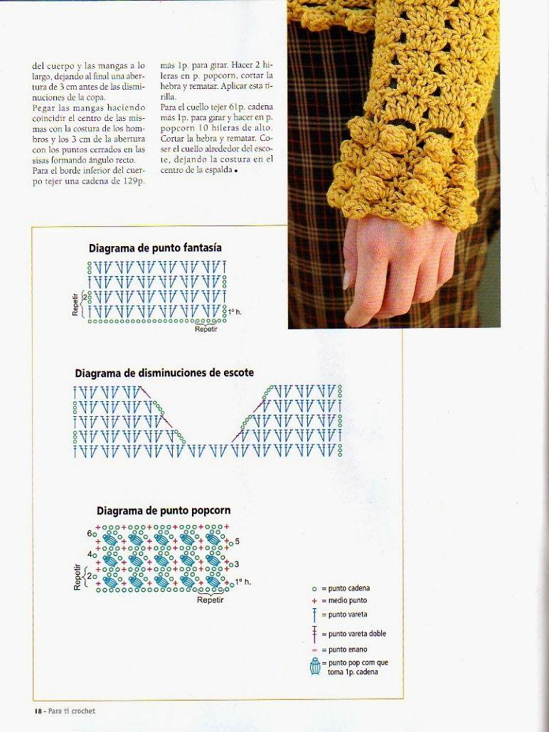 Jersey Rustico Crochet Patron e Instrucciones - Patrones Crochet ...