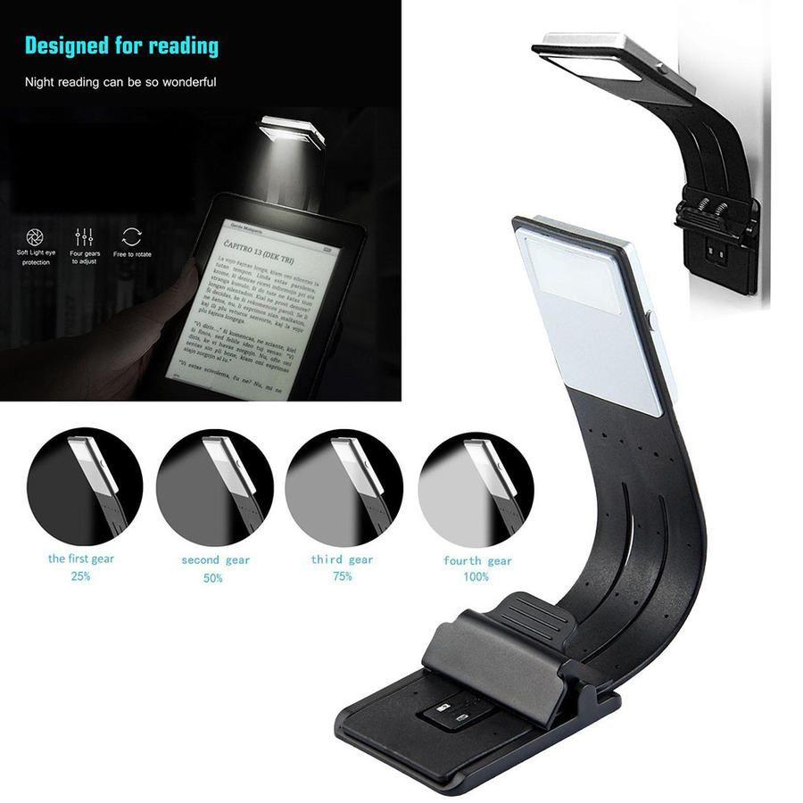 Portable Led Reading Book Light With Detachable Flexible Clip Usb