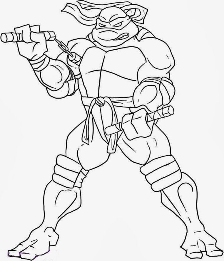 Ninja Turtles Michelangelo coloring picture for kids  Teenage