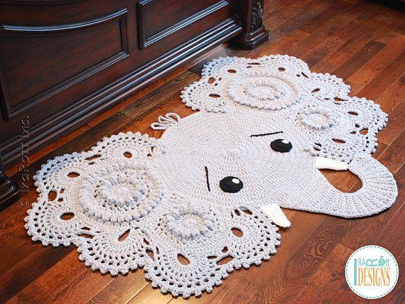 Crochet Pattern Josefina And Jeffery Elephant Rug Nursery Mat