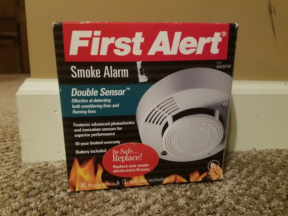 First Alert Sa301b Smoke Alarm Dual Sensor New Old Stock Home