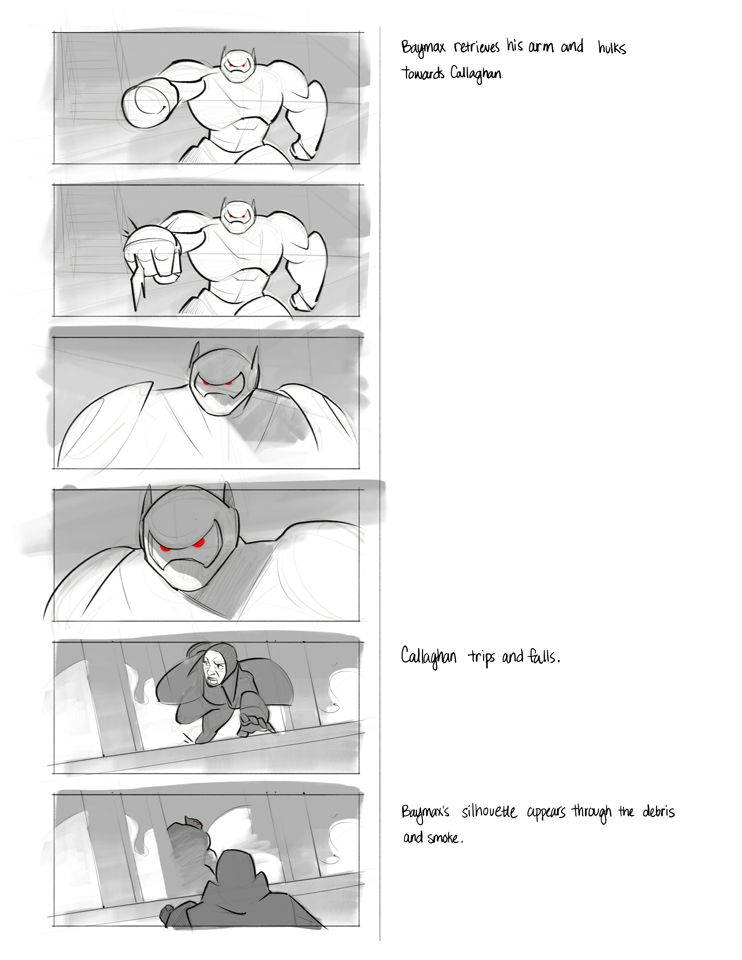 Disneyu0027s Big Hero 6   Storyboard Study on Behance STORYBOARDS - script storyboard