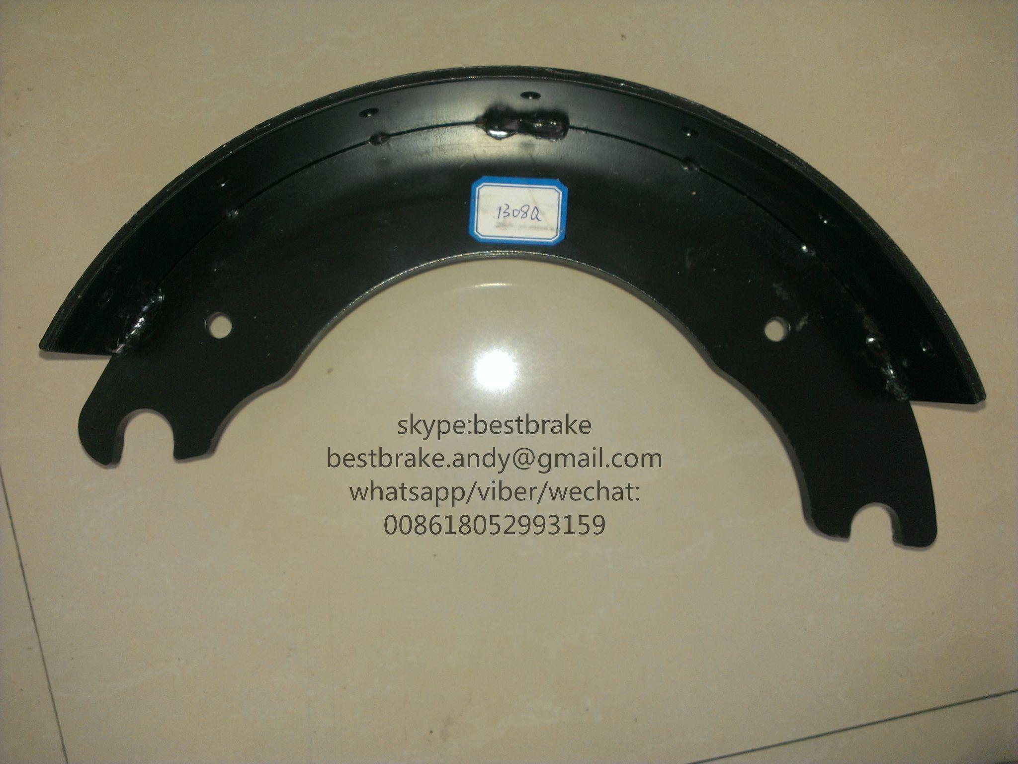 brake shoe 1308Q for amercian truck   HD brake shoe   Brake