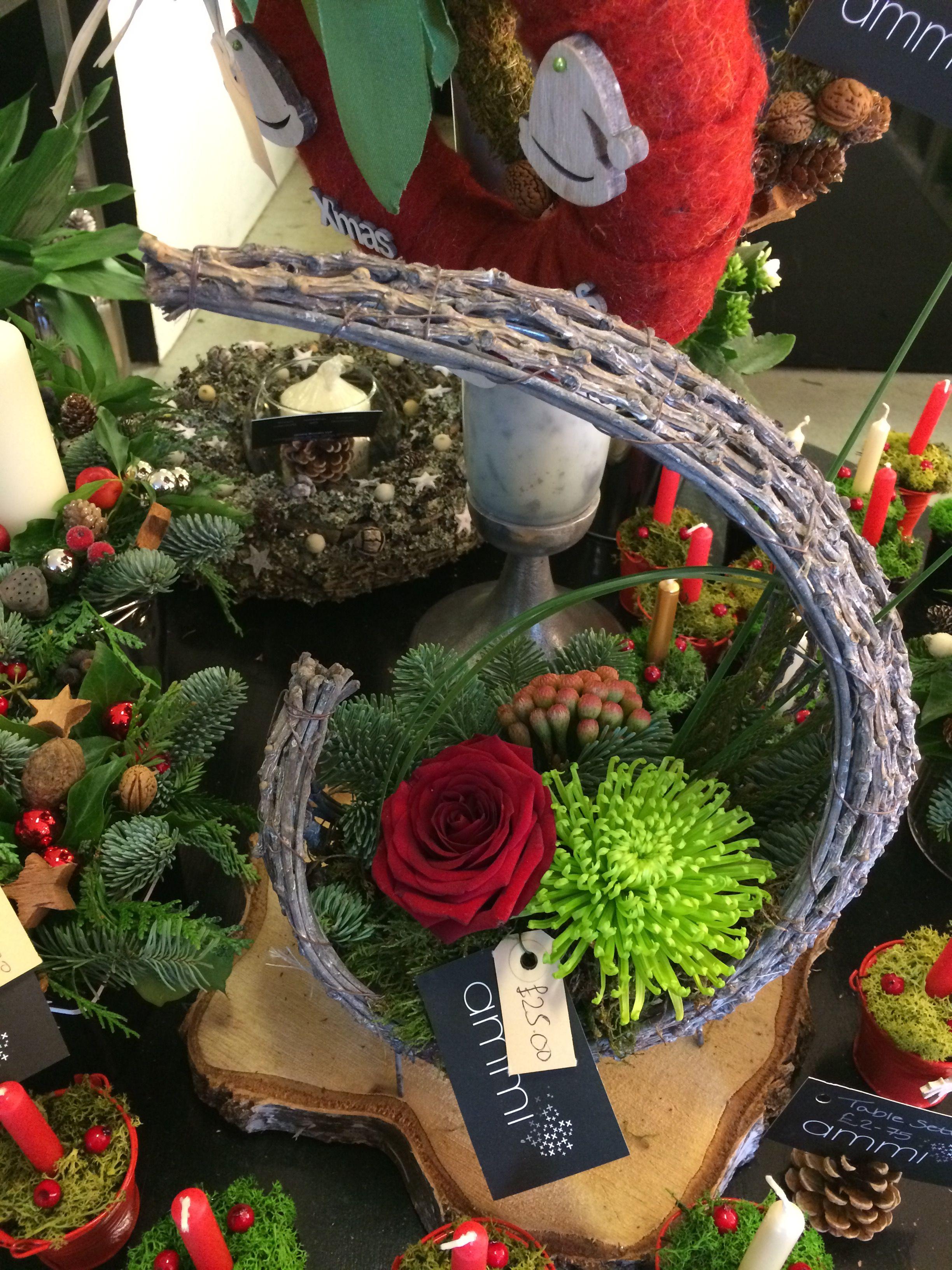 Christmas decoration #florist #ammiflowersdevizes #christmas #christmasdecoration