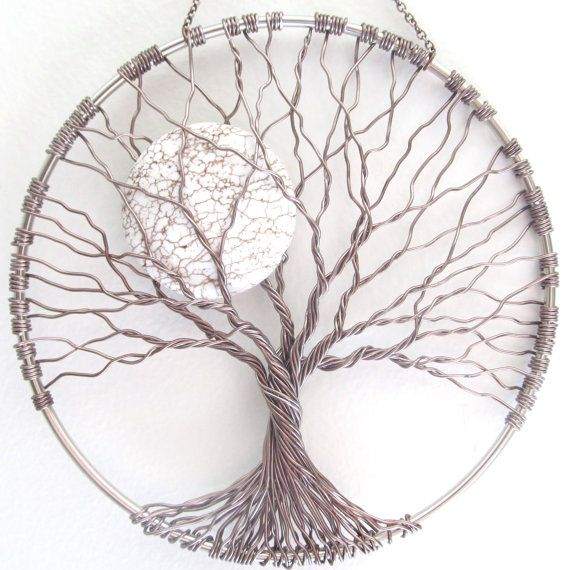 f69a3dd254 Calming Tree Wire Tree of Life Wall Hanging Sun by HomeBabyCrafts ...