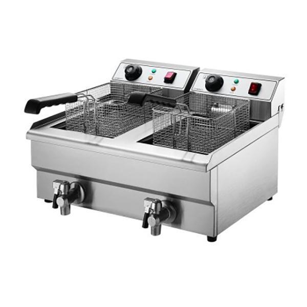 Devanti Double Pan Electric Deep Fryer 2 X 10l Dr20 Electric