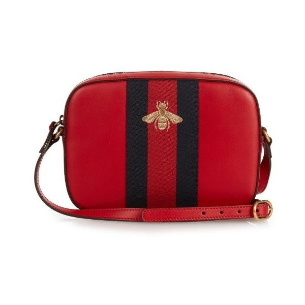 Gucci Line bee,embroidered leather cross,body bag ($1,190