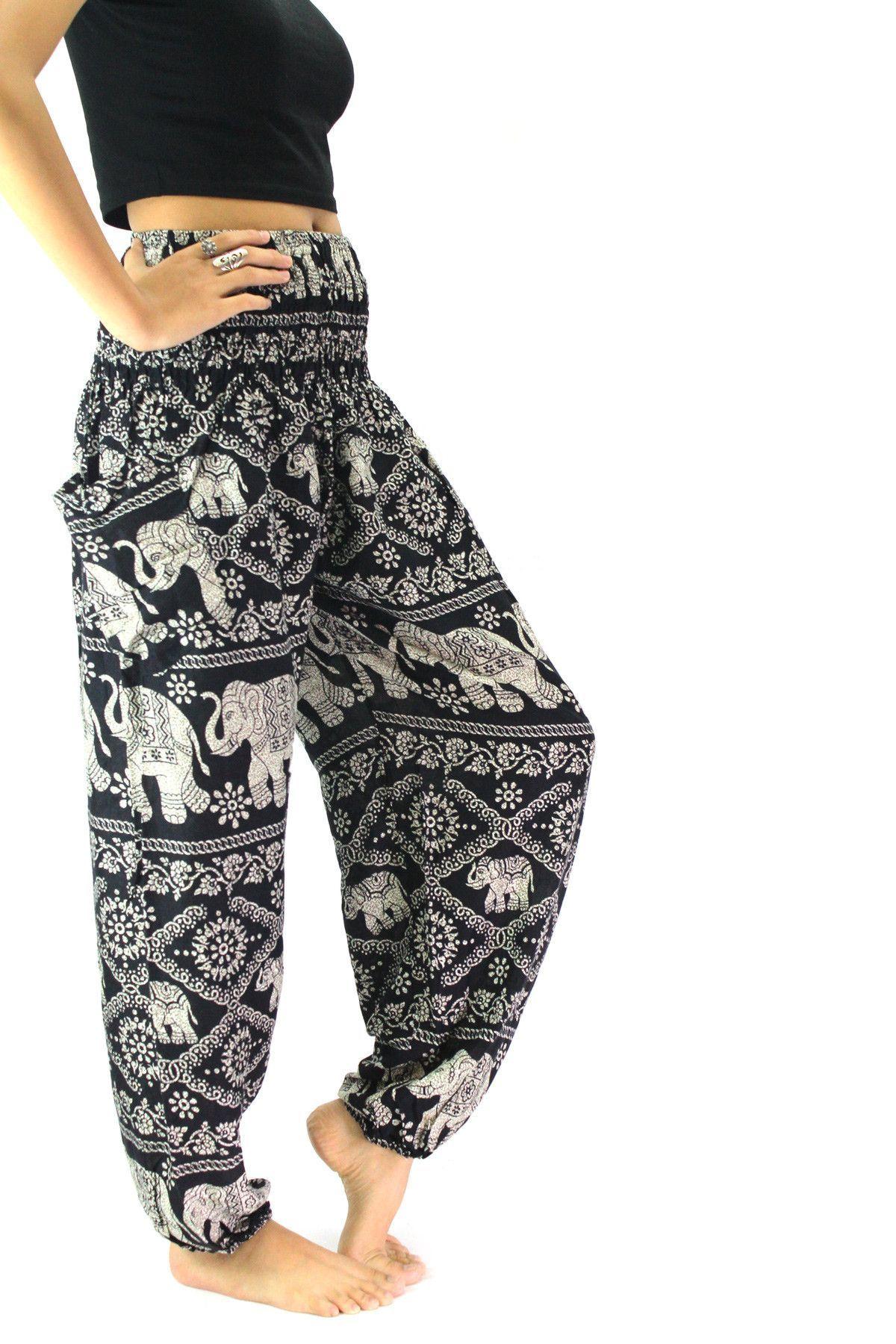 Boho Elephant Pants - Smocked Waist
