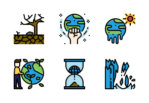 Climate Change Icons By Ddara Climate Change Christmas Icons Climates