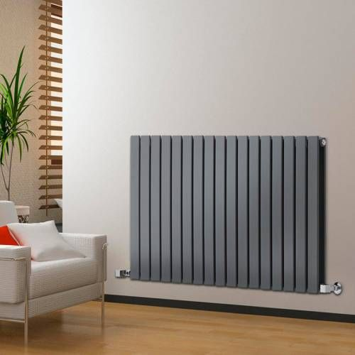 Hudson Reed Design Heizkorper 2 Lagig Horizontal Anthrazit 1904 Watt 635mm X 1190mm Delta Radiators Living Room Designer Radiator Radiators