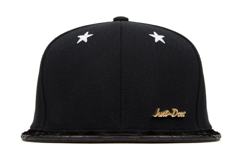 Just Don Blank Hat - Black/Black