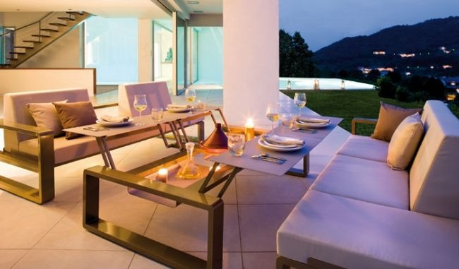 55 Garten Möbel Ideen   Lounge  Und Essbereich Im Freien Einrichten