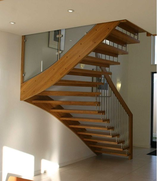 Timber Staircase Price: Floating Staircase Design Lyndhurst-1