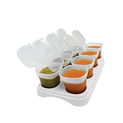 First Steps Baby Weaning Food Freezing Cubes Tray Pots Freezer