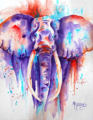 Elephant Walk And A Bodacious Treasury Watercolor Elephant Art