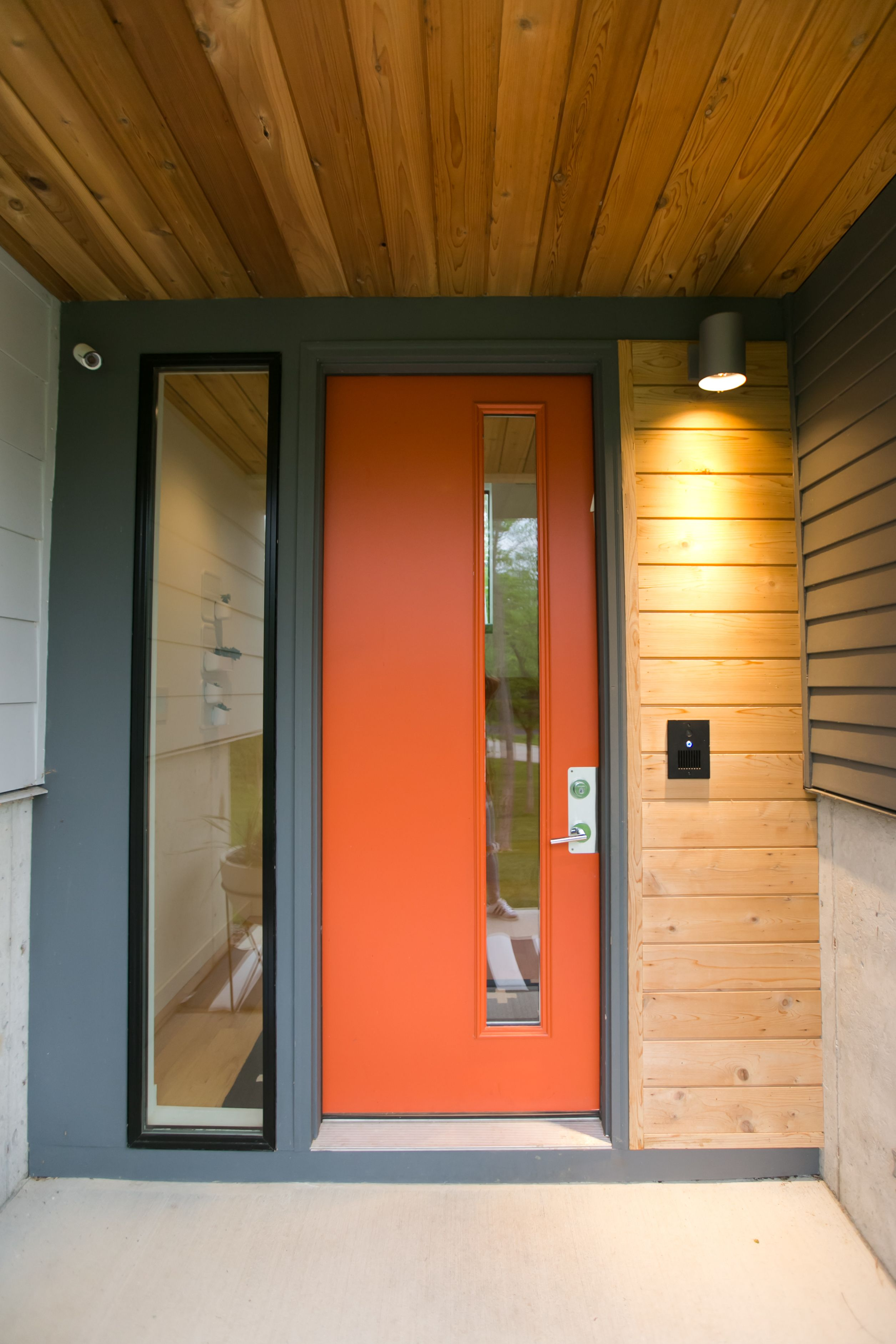 The Sangar House By Mod Abode By Jamie Sangar Modern Garage Doors Modern Front Door Midcentury Front Doors