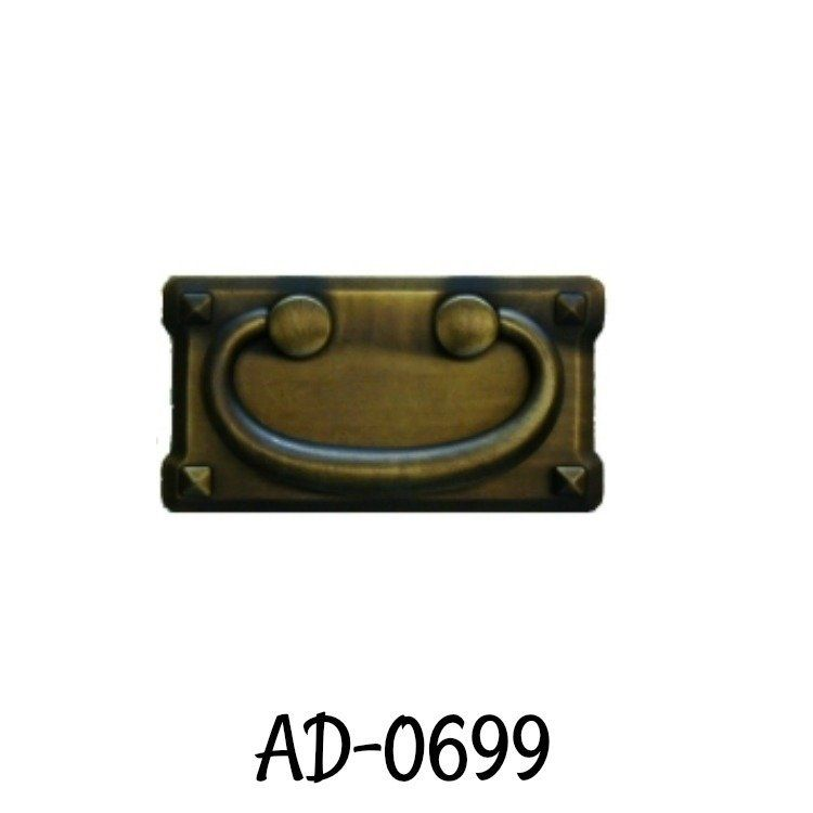 MISSION STYLE DRAWER PULL ANTIQUED BRASS  AD0699