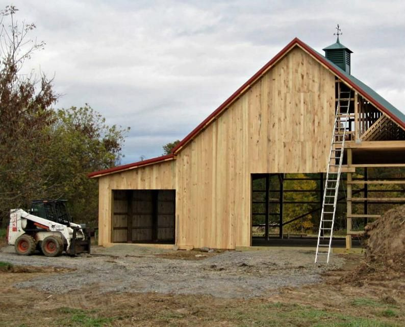 12 Pole Barn Plans With Lofts Twelve Optional Layouts Complete Construction Blueprints In 2020 Barn Plans Pole Barn Plans Pole Barn House Plans